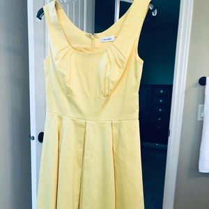 Women's Calvin Klein Yellow Sundress size 6